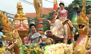 Festival de Songkran à Samutprakarn