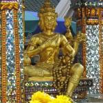 La statue de Phra Phrom au sanctuaire d'Erawan