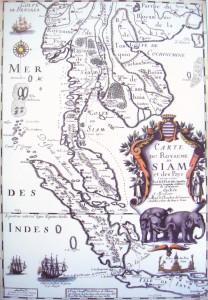 Carte du Royaume de Siam en 1686