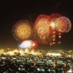 Feux d'artifice du réveillon du nouvel an occidental