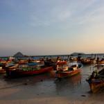 Bateaux des gitans des mers à Koh Phi Phi