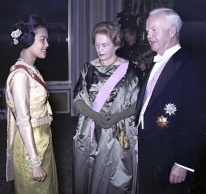 La Reine Sirikit et le président allemand Lübke