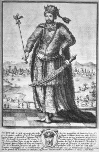 Illustration française représentant le Roi Narai