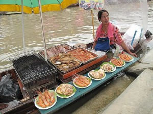 Vendeuse de fruits de mer