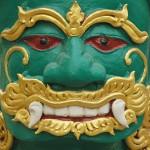 Statue du gardien de Wat Klong Wiang