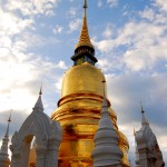 Chedi du temple Wat Suan Dok