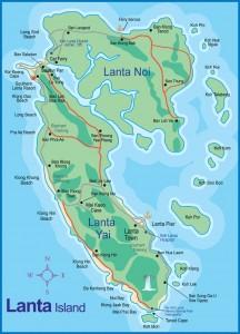 Carte de Koh Lanta