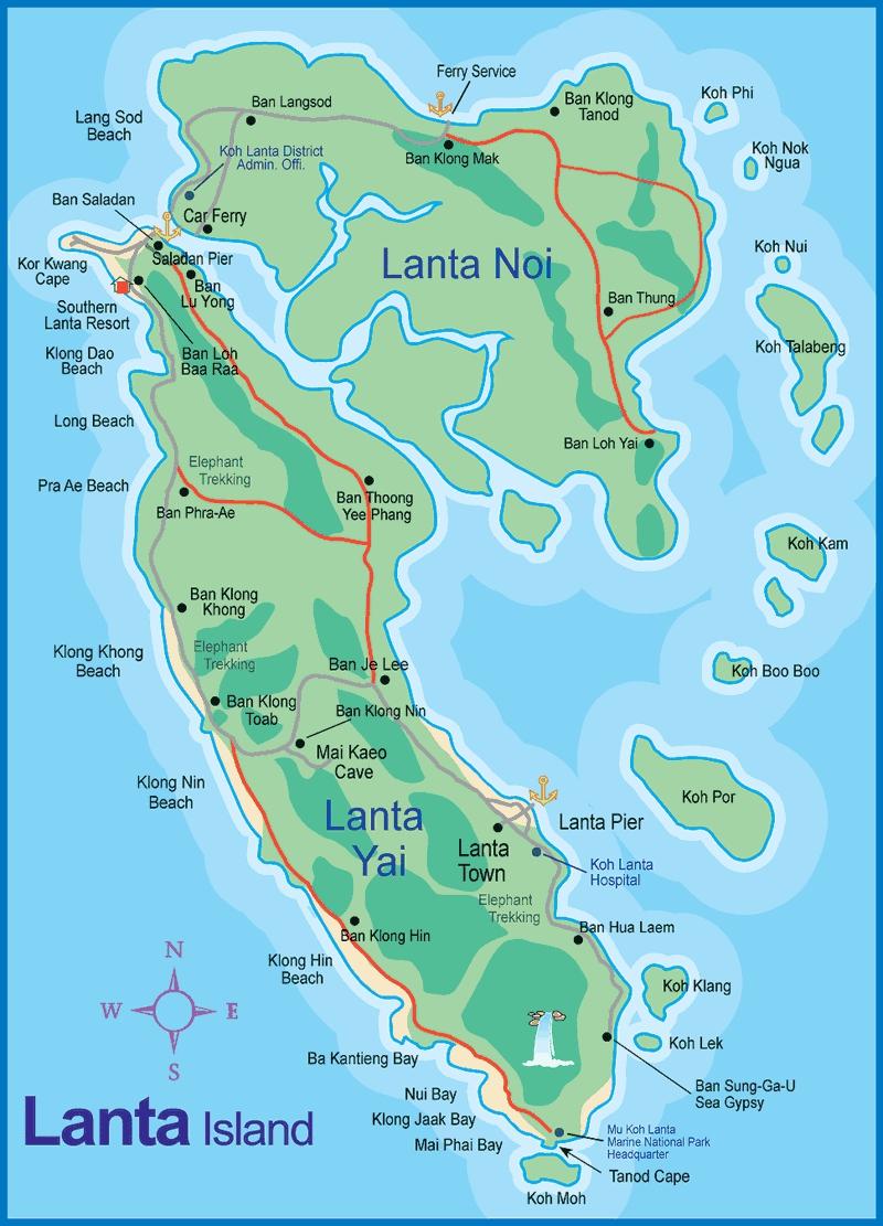 Cambodia Islands Map