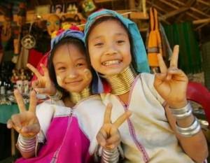 Enfants de la tribu Karen
