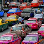Taxis colorés à Bangkok