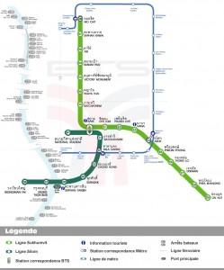 Plan du Skytrain de Bangkok