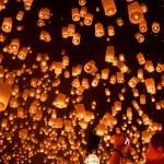 Loy Krathong - Lachée de lanternes dans le ciel