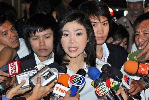 Le Premier ministre thaïlandais, Yingluck Shinawatra, le 22 octobre 2011 à Bangkok