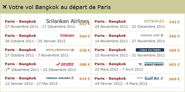 Vol Paris-Bangkok pas cher avec Opodo
