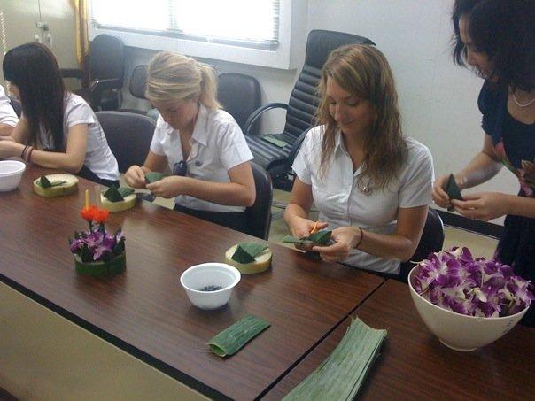Des étudiants étrangers en Thailande