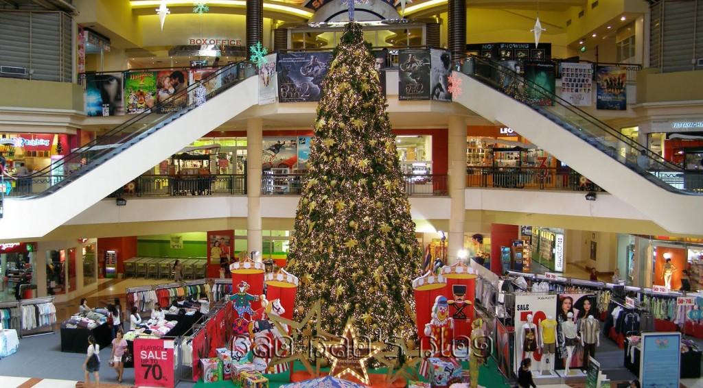 Centre commercial à Pattaya pour Noël