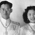 Le Roi Rama IX et la Reine Sirikit lors de leur mariage