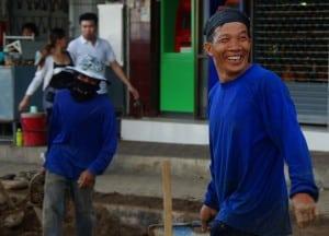 Ouvriers thaïlandais à Chiang Raï