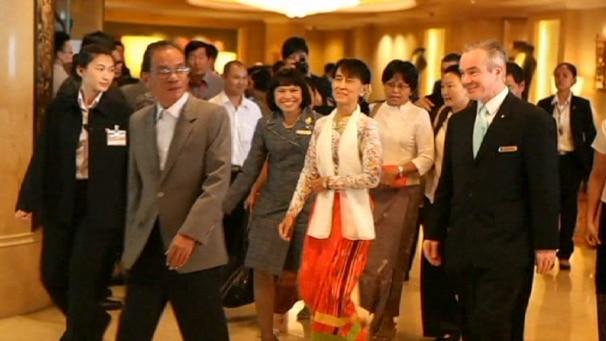Aung San Suu Kyi en Thaïlande