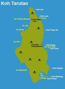 Carte de Koh Tarutao