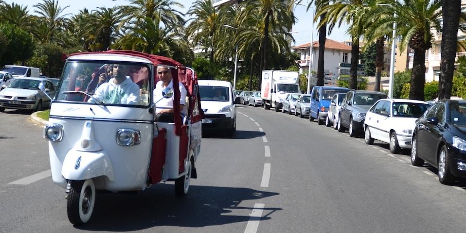 Tuk Tuk en Côte d'Azur