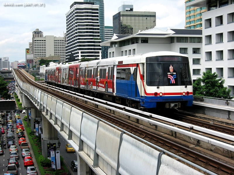 Le métro aérien de Bangkok (BTS)