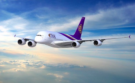 L'Airbus A380 de la Thai Airways
