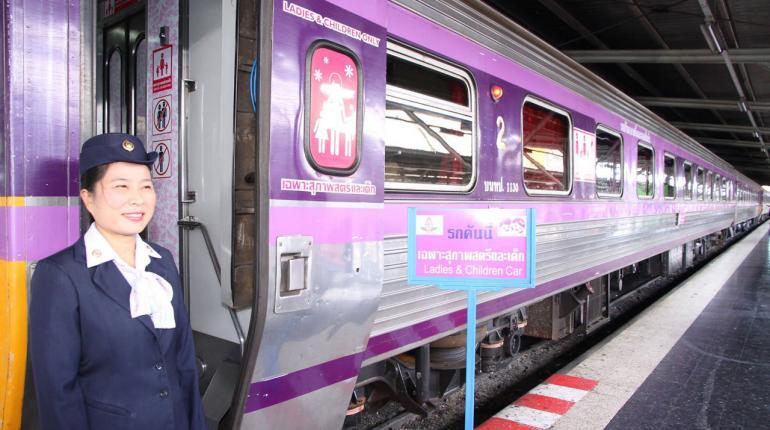 wagons de train entièrement féminins