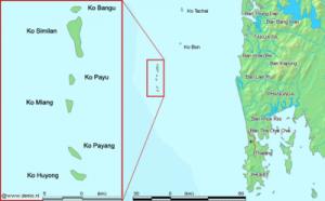 Géographie des îles Similan