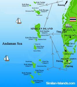 Se rendre sur les îles Similan