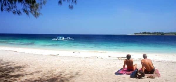 Senior couple enjoying their holiday on a tropical island