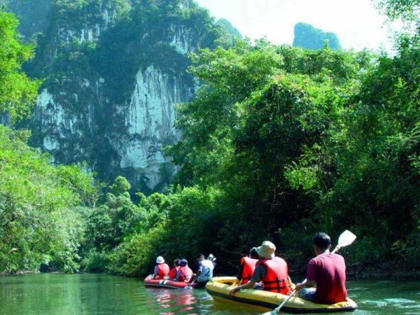 activité en kayak