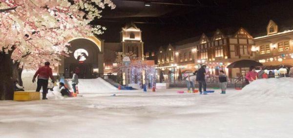 Profiter de la neige à Snow Town