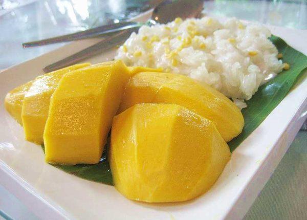 riz gluant à la mangue